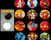 Ninjago Set of 12 1-Inch Buttons Make Great Party Favors