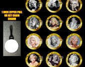 Marilyn Monroe Set of 12 Zipper Pulls Make Great Party Favors