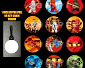 Ninjago Set of 12 Zipper Pulls Make Great Party Favors