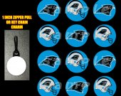 Carolina Panthers Set of 12 Zipper Pulls Make Great Party Favors