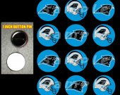 Carolina Panthers Set of 12 1-Inch Buttons Make Great Party Favors