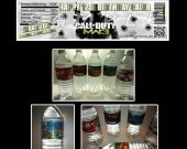 Call of Duty MW3 Set of 15 Water Bottle Labels - Make Great Party Favors