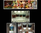 Lego Indiana Jones Set of 15 Water Bottle Labels - Make Great Party Favors