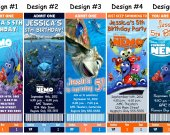 Finding Nemo Birthday Party Ticket Invitations, Supplies, and Favors