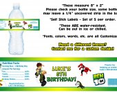 Ben 10 Water Bottle Labels - PRINTED FOR YOU - Birthday Party Supplies Favors