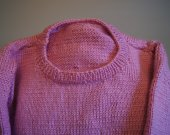 This sweater is done in pink very soft and warm not to haevy ,