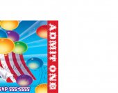 Circus Clown Carnival Birthday Party Ticket Invitations, Supplies, and Favors