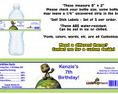 Little Big Planet Water Bottle Labels - PRINTED FOR YOU - Birthday Party Supplies Favors