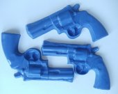 3 Police Gun Soap Set