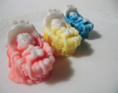 10 Baby Bassinet Soap Favor - baby shower