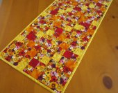 Quilted Table Runner Blossoms