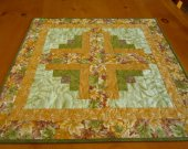 Quilted Table Topper Leaves