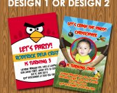 Angry Birds Birthday Invitations