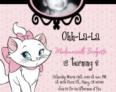 Aristocats- Marie Girls Birthday Invitations