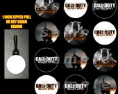 Call of Duty Black Ops Set of 12 Zipper Pulls Make Great Party Favors