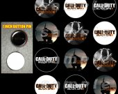 Call of Duty Black Ops 2 Set of 12 Pinback Buttons - Make Great Party Favors