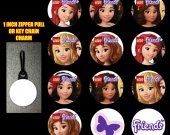 Lego Friends Set of 12 Zipper Pulls Make Great Party Favors