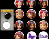 Lego Friends Set of 12 Pinback Buttons - Make Great Party Favors