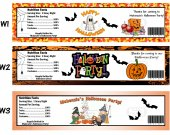 Halloween Trick or Treat Party Water Bottle Labels - PRINTED FOR YOU - Supplies Favors
