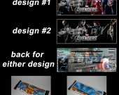 Avengers Set of 12 Personalized Candy Bar Wrappers Party Favors