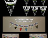 Call of Duty MW3 6-Triangle Pennant Banner