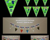 Super Why 6-Triangle Pennant Banner