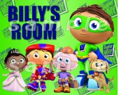 Super Why Laminated 8 x 10 Room Sign