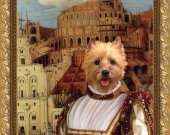 Cairn Terrier Dog Fine Art Canvas Print