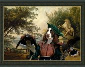 English Springer Spaniel Dog Fine Art Canvas Print