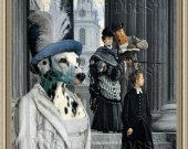 Dalmatian Dog Fine Art Canvas Print