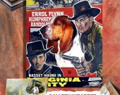 Basset Hound Vintage Poster Canvas Print  - Virginia City Movie Poster NEW Collection