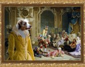 Australian Shepherd Dog Fine Art Canvas Print
