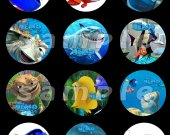 Finding Nemo Set of 12 2.5-Inch Round Personalized Stickers or Cupcake Toppers
