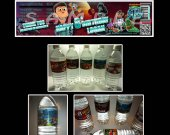 Planet Sheen Set of 15 Water Bottle Labels - Make Great Party Favors