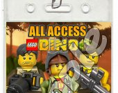 Lego Dino Set of 12 VIP Party Invitation Passes or Party Favors