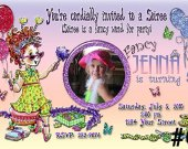 20 Fancy Nancy Photo Birthday Invitation Personalized (with Envelopes)