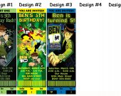 Ben 10 Birthday Party Invitations, Supplies, and Favors