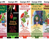 How the Grinch Stole Christmas Dr Seuss Cindy Lou Who Birthday Party Ticket Invitations, Supplies, and Favors