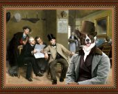 Welsh Corgi Cardigan Fine Art Canvas Print - The Latest News