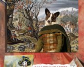 Welsh Corgi Cardigan Art Print Canvas Fine Artwork GALLERY WRAPPED