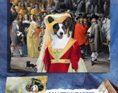 Welsh Corgi Cardigan Art Print Canvas Fine Artwork GALLERY WRAPPED - Noble Society