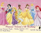 Disney Princess Birthday Invitation You Print (2)