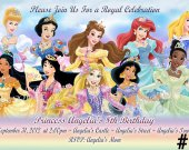 Disney Princess Birthday Invitation You Print (3)