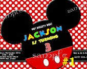 Mickey Mouse Birthday Party Invitation You Print (1)