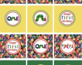 Very Hungry Caterpillar Cupcake Toppers Favor Tags Personalized