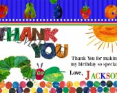 Very Hungry Caterpillar Thank You Card Personalized