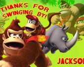 Donkey Kong Thank You Card Personalized