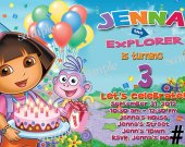 Dora the Explorer Birthday Invitation You Print (1)
