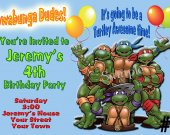 Teenage Mutant Ninja Turtles Birthday Invitation You Print (1)