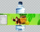 Donkey Kong Personalized Water Bottle Label You Print (1)
